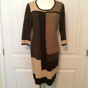 Block, sweater dress